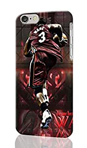 """Dwyane Wade Personalized Diy Custom Unique 3D Rough Hard Case Cover Skin For iPhone 6 Plus 5.5"""" inches, Design By Graceworld"""
