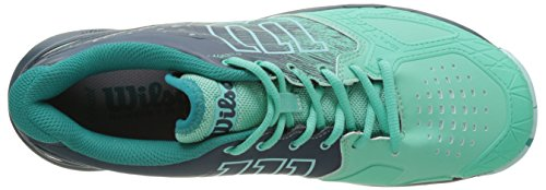 Wilson Wrs322450e075, Scarpe da Tennis Donna, Verde (Electric Green / Reflecting Pond / Arub), 41 1/3 EU