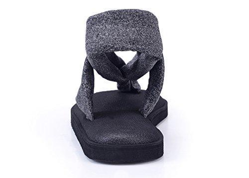 KALEIDO - Sandalias de vestir de Material Sintético para mujer Blackgrey
