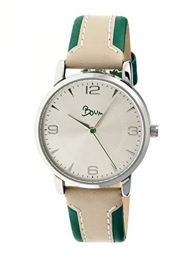 Boum Contraire Quartz Green Genuine Leather Silver Women's Watch (Women Watches Boum)