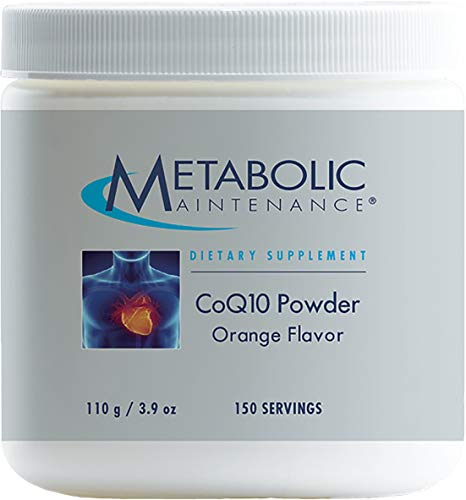 Metabolic Maintenance CoQ10 Powder - 100 mg Optimal Absorption, Energy + Cardiovascular Support, Orange Flavor (150 Servings / 100 Grams)