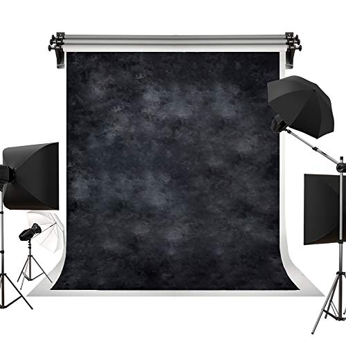 (Kate 5x7ft/1.5m(W) x2.2m(H) Black Photo Background Cloth Photography Props Printed Backdrops Photographers Photo)