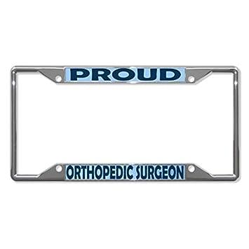 Amazon License Plate Frame Proud Orthopedic Surgeon Career
