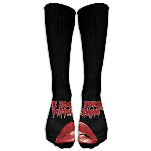 (HUASEN Film Rocky Horror Picture Show Big Lips Women Tube Knee Thigh High Stockings Cosplay Socks)