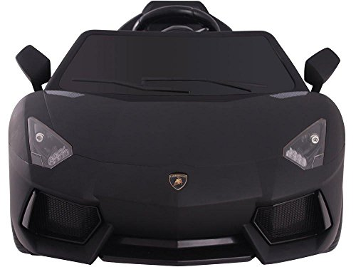 Official Sport Limited Edition Lamborghini Aventador 12v Kids Ride On Car with Remote ()