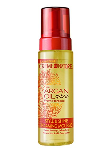 Creme of Nature Argan Oil Style and Shine Foaming Mousse, 7 Ounce Best Curl Mousse