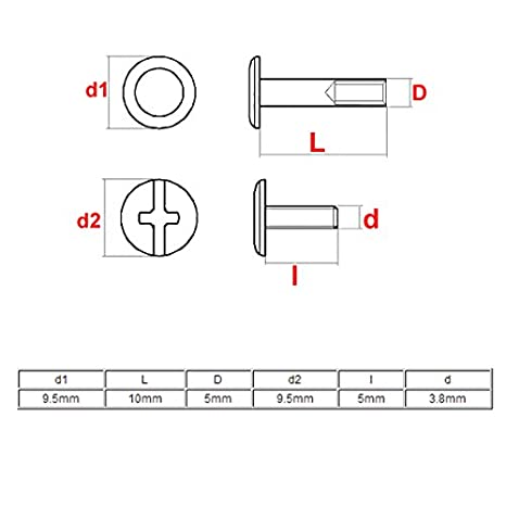 1.812 Length, 0.625 OD Female Brass Lyn-Tron Zinc Plated Pack of 5 3//8-16 Screw Size