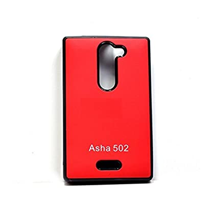 newest 2a176 29316 Camphor Soft back cover case for Nokia Asha 502 - Red: Amazon.in ...