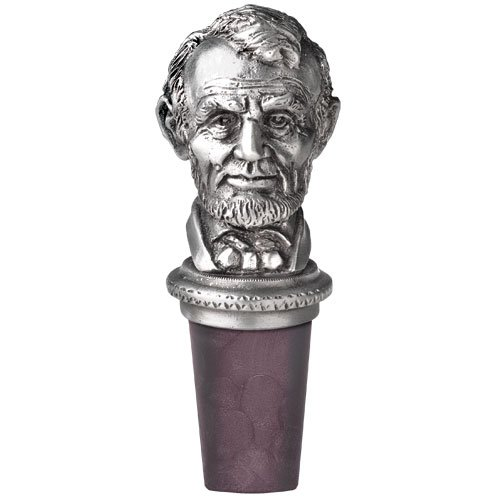 16th US President Abraham Lincoln Bottle Stopper by Heritage Pewter (Image #1)