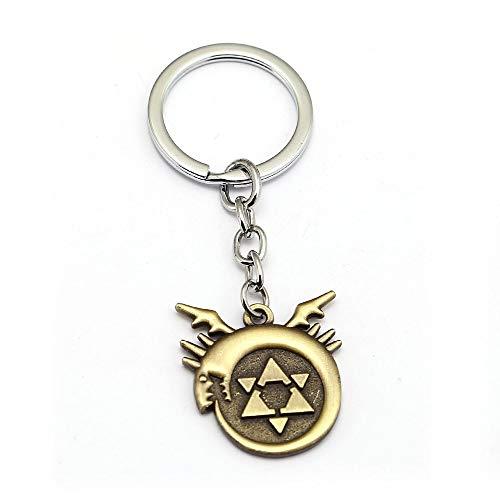Mct12 - Fullmetal Alchemist Keychain Edward Metal Key Ring Holder Anime Jewelry Car Handbag - Full Metal Keychain Alchemist