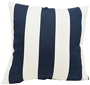 Majestic Home Goods Navy Blue Vertical Stripe Extra Large Pillow