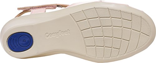 Cosyfeet Zinnia Sandals - Extra Roomy (Eeeee+ Width Fitting) Nude Leather E6heSTaer