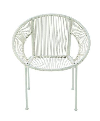 Rattan Round Chair - Deco 79 Benzara Durable Metal Plastic Rattan Chair, 29