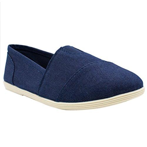 Soda Women Object Flats-Shoes Neuer blauer Denim