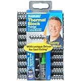 Plasplugs Sscp558 Thermal Block Fixings x40 with Drill Bit & Driver