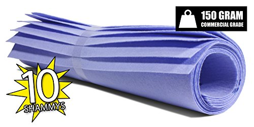 The Newest Original German Shammy - Commercial Grade 150gm Drying Chamois (10, Blue (Super Absorbent Cloth)
