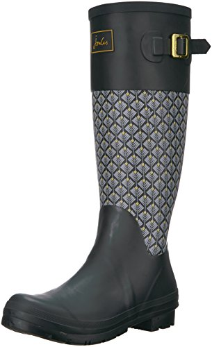 Black Rain Boot Geo Joules Women's Wadebridge Feather P6q4F4