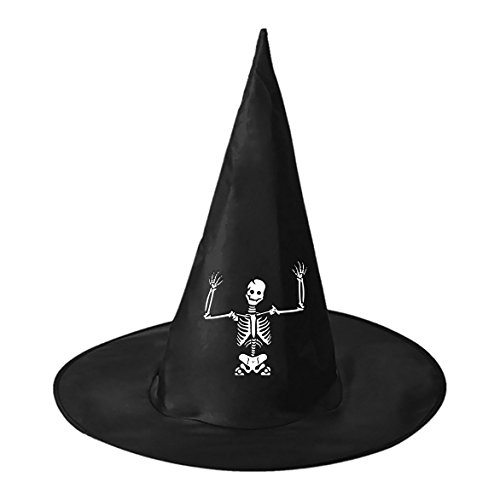 Surrendering Skeleton Conical Cosplay Witch Hat Toy to Halloween Costume Ball for Unisex Kids (Halloween Costume Ideas Homemade Simple)