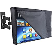 Outdoor TV Cover 55 - NOW WITH FRONT FLAP - The BEST Quality Weatherproof and Dust-proof Material with FREE Microfiber Cloth. Protect Your TV Now!