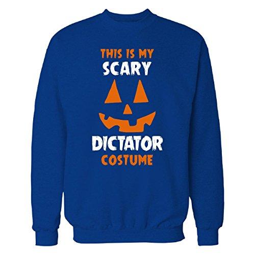 Dictator Costume Girl (This Is My Scary Dictator Costume Halloween Gift - Sweatshirt Royal 3XL)