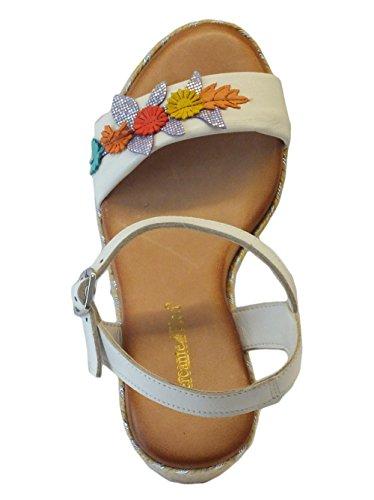 Mercante di Fiori 9396 Bianco - Sandalias de vestir de Piel para mujer Bianco