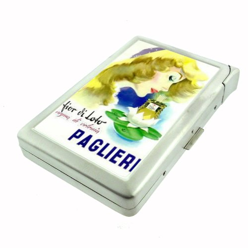 (Paglieri Perfume Italy Lovely Double-Sided Cigarette Case with lighter, ID Holder, and Wallet D-444)