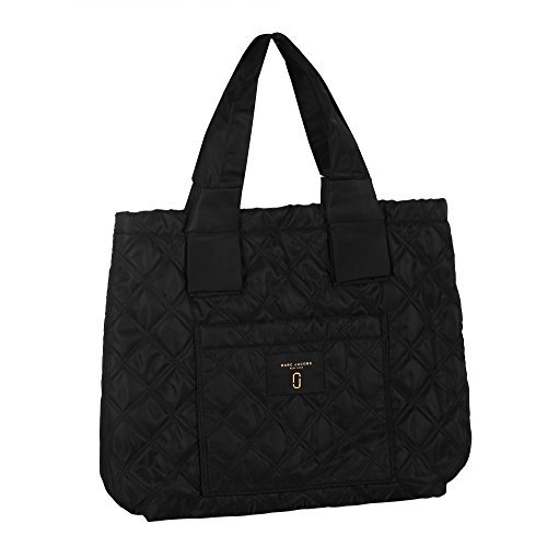Marc Jacobs Quilted Tote Leather/Nylon Black M0013510-001 Marc Jacobs Quilted Bag