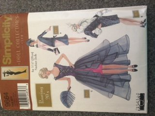 Simplicity 9664 - Roaring 20's for 11.5-inch Fashion Dolls - 3 Outfits (Doll Collector's Club)