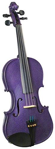 Cremona SV-75 Premier Novice Violin Outfit - Sparkling Purple - 4/4 Size by Cremona