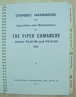 Piper Comanche PA-24-180, PA-24-250 1961 Owner's Manual