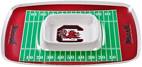 BSI NCAA South Carolina Gamecocks Chip & Dip Tray, One Size, Multicolor