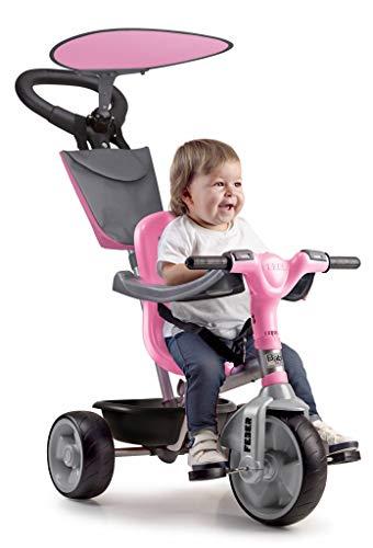FEBER - Baby Plus Music Pink, Triciclo Rosa para ninos y ninas de 9 Meses a 3 anos (Famosa 800012132)