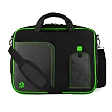 Green VG Pindar Edition Messenger Bag Carrying Case for ViewSonic ViewPad E100 9.7 inch Tablet / ViewPad 10 / ViewPad 10e / ViewPad 10pi / ViewPad 10s 10.1 inch Tablets