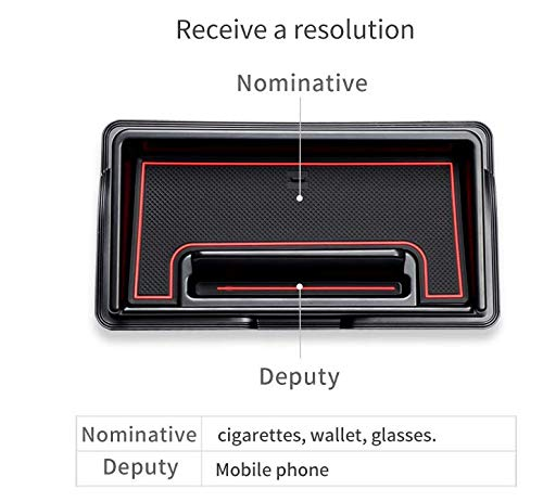 For Jimny 2019 Central Console Armrest Box Auxiliary Storage Box Console Organizer Insert Tray ABS
