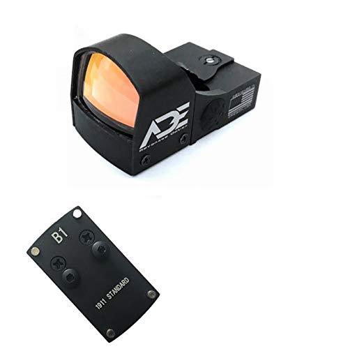 Ade Advanced Optics Crusader RD3-009 Red Dot Reflex Sight with Colt 1911 Standard Handgun Mounting Plate That Replace Rear Sight