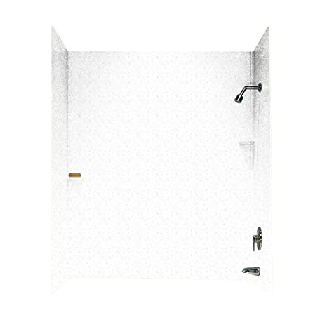 Bisque 36-in L X 62-in H X 72.5-in H Swanstone SQMK723662.018 Solid Surface Glue-Up 3-Panel Bathtub Wall Kit