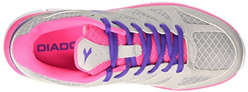 Diadora Argento Baskets Rosa Shocking Mixte 4 Basses Adulte Gris Hawk 0qErvLw0