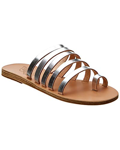 - Ancient Greek Sandals Niki Metallic Leather Sandal, 37, Grey