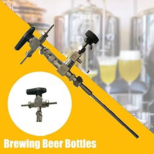 CamKpell Kit de Manguera de 3 vías de llenado de Botellas de Cerveza de contrapresión de Acero ...