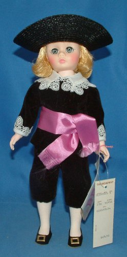 Vintage Madame Alexander #1390 Doll,Lord Fauntleroy,black Velvet Coat & Knickers W/lace Trim,black Straw Hat,purple Sash,booklet,name Tag,original Box,1970's (Velvet Knickers)