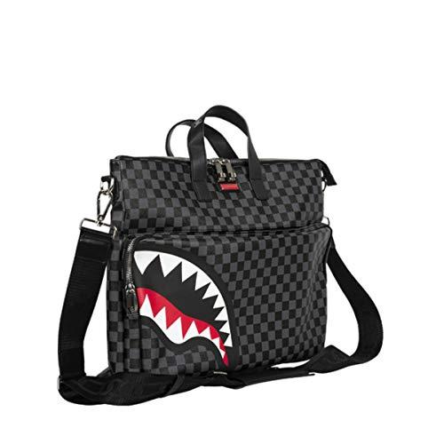 Sprayground Sharks in Paris Black Grey Checker Travel Festival Bag by Sprayground (Image #1)