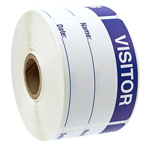 500 Visitor Pass/Identification Labels Stickers/Easy to Write On by SBlabels (Image #2)