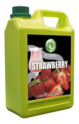 Possmei Flavored Syrup, Strawberry, 5.5 Pound (Strawberry Syrup Drink)