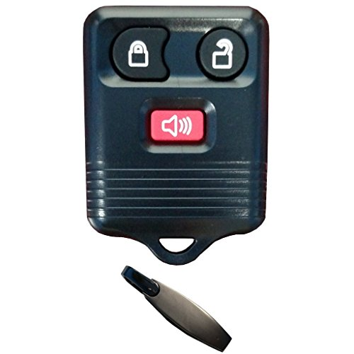 Discount Keyless Replacement 3 Button Automotive Keyless Entry Remote Control Transmitter Compatible with Ford, Lincoln, Mazda, and Mercury Vehicles