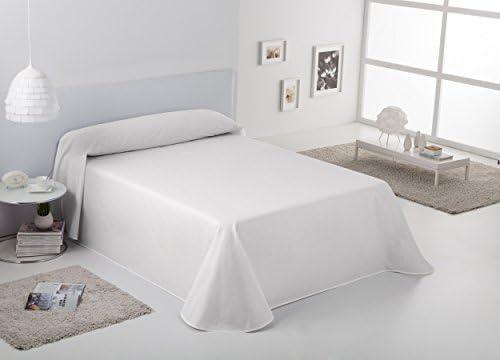 ESTELA - Colcha/Cubrecama RÚSTICO Lisos Color Blanco óptico - Cama de 135/140 cm. - Hilo Tintado - 50% Algodón/50% Poliéster: Amazon.es: Hogar