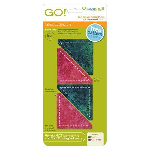 AccuQuilt GO! Half Square Triangle-2 1/2