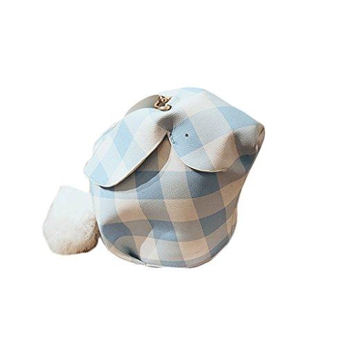 GJ Sac à bandoulière - paquet de treillis femelle animaux sac à bandoulière portable sac de loisirs sacs de voyage sacs de dame de la mode (Couleur : Blue, taille : 18 * 3 * 16.5cm) Blue