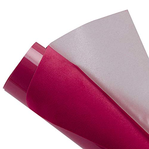 HOHOFILM Pink Flock Heat Transfer Vinyl Flocked HTV Vinyl Sheets 20