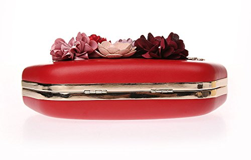 Main Fleur Sac Main Elégante de Perlée de Pochette Soirée Rouge Pochette à Ankoee à Sac Pochettes Perle Mariage wqExI6Yqd