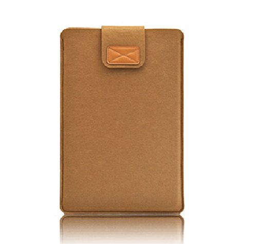 Nasis unisex felt protective cover bag for ipad air and tablet PC sleeve AL3022 (camel, Pro 15.4)